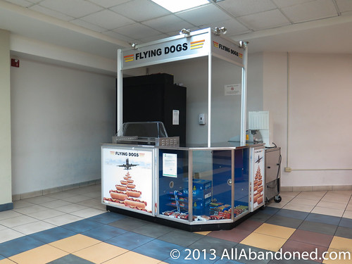 Flying dogs hot dog stand