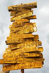 Wood sign in Chicken, Alaska (Mysophie08) Tags: alaska unitedstatesofamerica longshot infocus highquality twothumbsup bigmomma cy2 chickenak oneface thechallengefactory yourockwinner herowinner storybookwinner gamesweepwinner cannon5dcamera topoftheworldroad