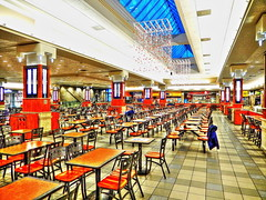 Food Court Before The Rush.. (cagey u2) Tags: mall early food court chairs tables people thai good vw eat great taste closed service