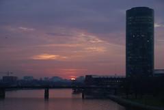 37 Frankfurt, Sonnenuntergang am Main (HEN-Magonza) Tags: frankfurt hessen hesse deutschland germany