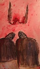 (lettie_turner6) Tags: art stockings birds socks ink painting blood wings legs creative tights bone macabre wish gruesome