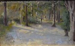 Eugenio Prati Pime luci 1894 olio su tela 24,5 x 39 cm