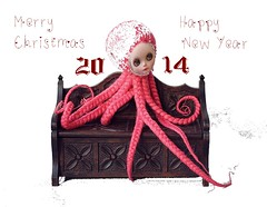 ♥Merry Christmas!!!♥ (Shirrstone Shelter dolls) Tags: christmas new happy year octopus merry octo 2014 sssdolls