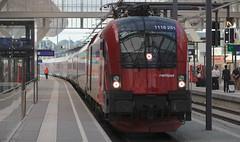 Railjet, Salzburg Hauptbahnhof (austrianpsycho) Tags: salzburg train platform engine siemens eisenbahn railway zug bahnhof hauptbahnhof locomotive taurus bahn hbf bahnsteig lokomotive lok oebb 251 elok 1116 2510 elektrolok salzburghbf elektrolokomotive railjet salzburghauptbahnhof öbb öbbrailjet 1116251 11162510