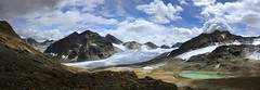 A breath-taking view around the glacier world of the Pitztal (B℮n) Tags: blue summer vacation panorama sculpture mountain holiday snow mountains alps ice austria tirol oostenrijk österreich scenery rocks hiking walk explorer hütte dramatic arches hike glacier caves trail hut alpine till gletscher untouched viewpoint topf100 topf200 breathtaking impressive tyrol braunschweig perpetual highest pitztal weiser wildspitze gletsjer mittelberg 100faves 50faves 200faves kogel eisbruch taschach bergwandeling mandarfen turguoise gletsjerijs otztalalps 3774m längentalerweisserkogel wildspitzbahn gletsjerwereld