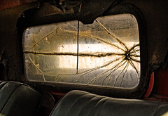 Cracked (arbyreed) Tags: old broken glass truck forgotten cracked farmtruck olddodgetruck arbyreed windowwednesdays crackedglasswindown