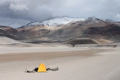 Camp by the 'road', near Corona del Inca