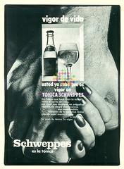 """Schweppes. """"Vigor de vida"""". Años 70"""