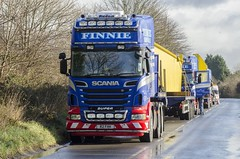 Finnie Heavy Haulage (scottish_photography_productions) Tags: england night photography scotland long glasgow cranes 350 heavy load mannheim abnormal scania daf haulage lockerbie immingham 8x4 fhh 6x4 finnie broshuis r620 balwins