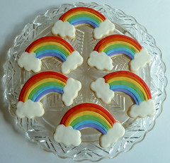 Rainbow Birthday Cookies