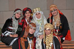 Members of Creative Generation in the traditional dress of Yemen at an entrepreneurship competition in Doha, Qatar.
