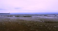 Phare et mer sous la pluie (Amanclos) Tags: sky panorama mer lighthouse seascape france water clouds canon eau violet pluie wideangle ciel nuages aude phare waterscape météo méditerranée grandangle nowind efs1022 canoneos700d pharedeportlanouvelle
