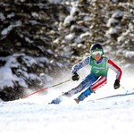Liam Wallace from Alberta winning Sunday's GS at the Apex Fidelity U16 Can Am Races