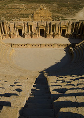 Theatre In Jerash Ruins, Jordan (Eric Lafforgue Photography) Tags: history archaeology vertical stone architecture outdoors temple photography ancient theater day arch roman religion mid