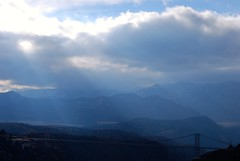 Heavenly Light (nickandrosemary) Tags: city light mountains canon river colorado royal gorge arkansas