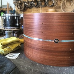 It's so nice to be back in the shop. #qdrumco