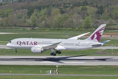 Qatar Airways Boeing 787-800 Dreamliner; A7-BCC@ZRH;10.04.2014/750bl (Aero Icarus) Tags: plane aircraft flugzeug airliner avion zrh zürichkloten qatarairways flughafenzürich dreamliner twinjet boeing787 boeing7878 boeing787800 a7bcc