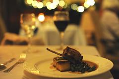 Dinner & Bokeh! (Gingernutty Photography) Tags: food dinner 50mm nikon wine bokeh d3 armathwaitehall
