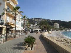 The seafront at Xabia (Baz Richardson) Tags: coast spain restaurants promenade seafront javea costablanca xabia