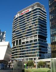 720 Bourke Street, Melbourne (Oriolus84) Tags: plants building tower architecture living office vines australia melbourne victoria signage highrise docklands medibank medibankbuilding 720bourkestreet