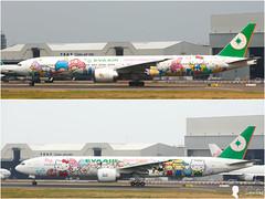 EVA AIR B-777 (Steven Weng) Tags: canon tia eos eva aircraft air taiwan kitty 500mm b777 rctp  eos1ds2   tpe  aircraft canon