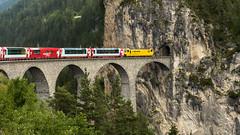 Landwasser-Viadukt 1 (swissgoldeneagle) Tags: train schweiz switzerland railway zug viaduct d750 ch graubünden grisons landwasser viadukt tiefencastel graubuenden landwasserviadukt filisur landwasserviaduct railwaycars