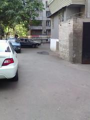 Yard where I live in childhood, Posmitnogo, 22 St