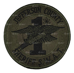 Jefferson County Sheriff SWAT Patch (Nate_892) Tags: jefferson county swat patch wi wisconsin subdued special weapons tactics jeso sheriff office