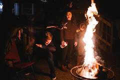 Flame Dab (BurlapZack) Tags: pentaxk1 pentaxfalimited43mmf19 vscofilm pack01 carrolltontx party birthdayparty backyard fire flame firepit dab kidsthesedays youth idontgetitbutok memes dankmemes confusion confused nightlife availablelight handheld bokeh dof