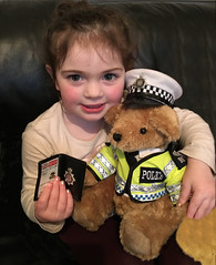 You're under arrest! (The Stig 2009) Tags: thestig2009 thestig stig 2009 2017 tony o tonyo bobby bear policeman sargeant 999 police warrant card child baby grandchild granddaughter lily