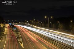 Junction 25 (Yardbrush) Tags: light streak m1 junction25 motorway night speed traffic travel road
