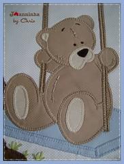 urso no balanço (Joanninha by Chris) Tags: handmade feitoamão bordado manta menino urso ursinho enxovalbebe enxovalmenino aplicaçãodetecidos artesanato bear baby bebê patchwork patch azul