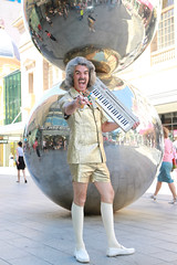 Barry's Balls (Plymography) Tags: plymography jasonnolan adelaide photographer south australia malls balls rundle mall public art icon iconic barry morgan salesman organ safari suit big hair 70s kitsch fringe show out of this world 2017 adl city cbd 5000 organs keyboard festival entertainer street shopping