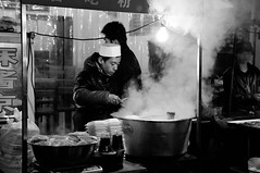 Steaming Hot (Emon) Tags: china street travel winter food cooking dark asia noir culture steam chef orient steamy