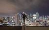 Still (tomms) Tags: city urban toronto up skyline night lights high still downtown walk vertigo line metropolis balance