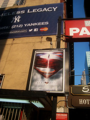 Man of Steel - New Superman Billboard theater Poster 0315 (Brechtbug) Tags: street new york city nyc blue red man work dark comics painting movie poster square book dc paint theater comic near steel character alien bat working broadway s superman billboard advertisement adventure hero superhero billboards knight worker shield times insignia krypton 46th 2013