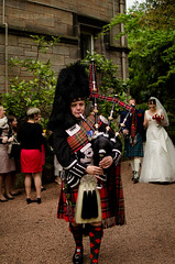 0022Pipper002 (PauSmithPhotography) Tags: uk greatbritain wedding zoo scotland edinburgh marriage brideandgroom scottishwedding happyday manorhousezoo