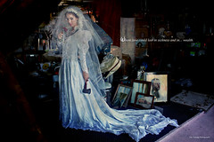 Where Love Could Last in Sickness and in... Wealth (Duy Truong Photography) Tags: world wedding fashion death bride kill disneyland megan husband disney haunted attic wife murder mansion waltdisneyworld walt hatchet murderer coffey megancoffey