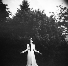 Cassie Meder (myleskatherine) Tags: trees portrait blackandwhite bw art film girl fashion oregon analog portland photography holga lomo lomography model toycamera pdx haunting analogue westcoast