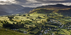 (John Ormerod) Tags: uk trees light shadow england sky sun sunlight mountains sunshine clouds rural landscape photography country lakedistrict hills cumbria fells fields keswick latrigg johnormerod