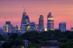 London skyline and a great sunset