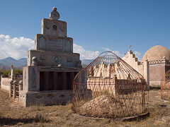 Kyrgyz cemetery (Evgeni Zotov) Tags: cemetery grave death asia tomb cover soviet yurt burial kyrgyz kyrgyzstan kirghizistan kirgistan kirgizia kirgizistan kirgizië kirgisistan قيرغيزستان kirguistan kirghizia kırgızistan quirguistão bokonbayevo bokonbaevo киргизия кыргызстан 吉尔吉斯斯坦 吉爾吉斯斯坦 キルギスタン боконбаево 키르기스스탄 किर्गिज़स्तान קירגיזסטן бөкөнбаев