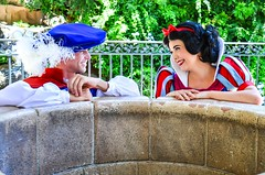 Snow White and her prince (EverythingDisney) Tags: couple princess disneyland royal prince disney snowwhite dlr theprince wishingwell snowprince