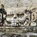 Il teschio scolpito nel Templo de la Calavera