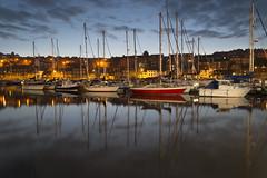 Whitby Marina sunrise (PaulR1250) Tags: reflection water marina sunrise boats whitby