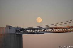 Moonrise over the Bay Bridge