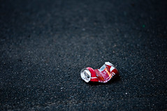 Slim with Coca cola... (Loic Marnat) Tags: street nikon can cocacola rue crushed crushedcan d300s