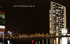 Princes Dock (Glyn Owen Photography & Image-Art) Tags: night liverpool reflections photography lights dock long exposure britain great merseyside