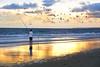 Pescando colores (pericoterrades) Tags: atardecer huelva pesca bajamar playas puntaumbría labota