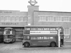 Peckham Routemasters (kingsway john) Tags: routemaster efe model bus diorama peckham garage london transport 176 scale card londontransportmodel oo gauge miniature